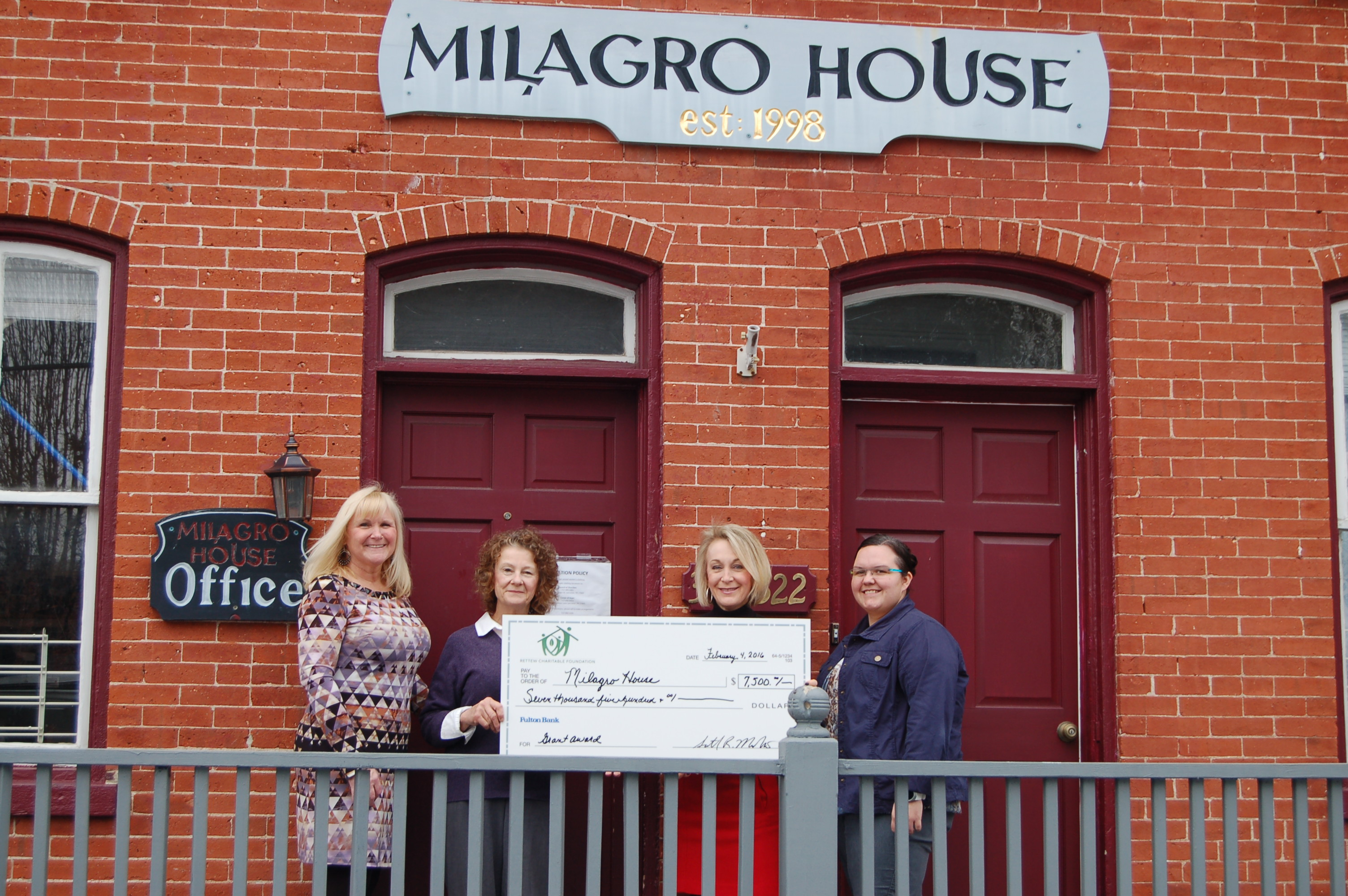 RETTEW presents $7,500 to Milagro House