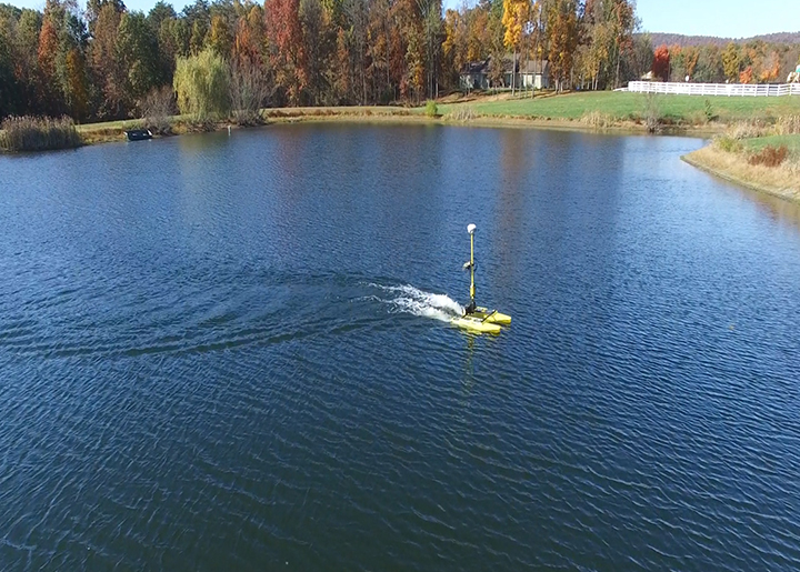 Hydrone shuttles around pond