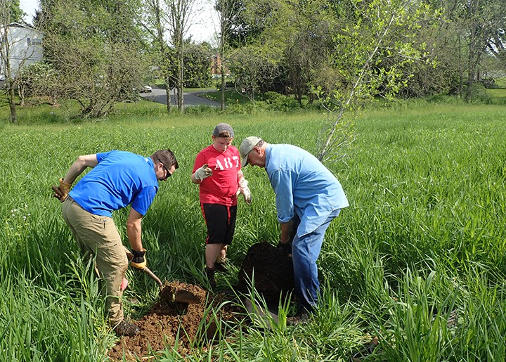RETTEW staff help plant trees