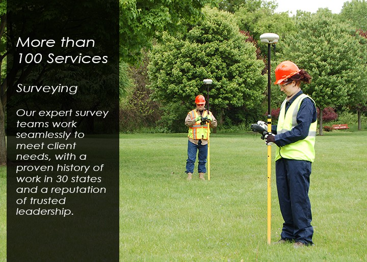 RETTEW surveyors use equipment in the field