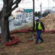 radar helps this specialist find underground utilities near a busy intersection