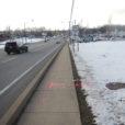 Utility marking on roadside