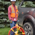 Michael Carlton is ready to identify underground utilities with his equipment