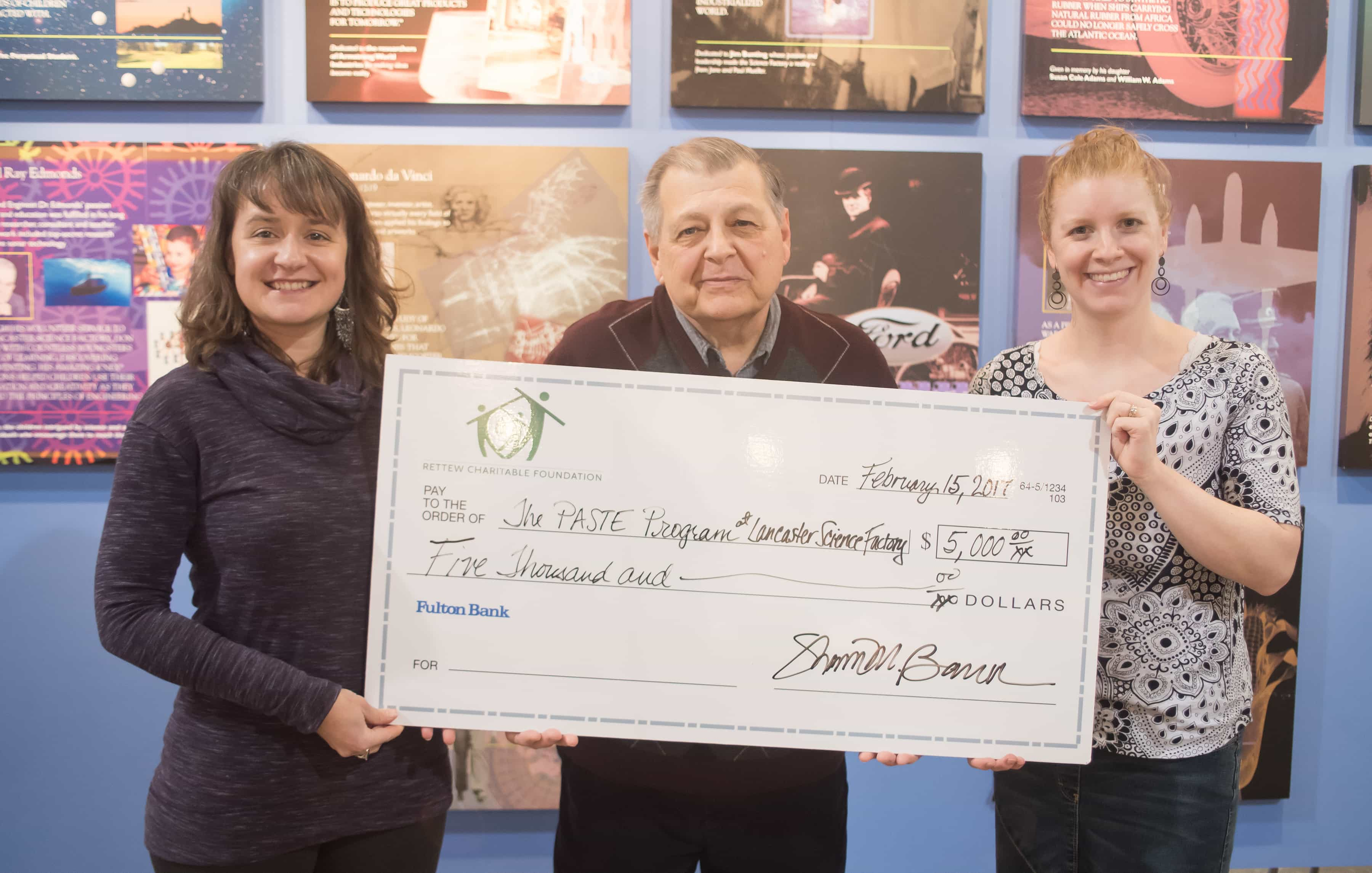 RCF to science factory check presentation