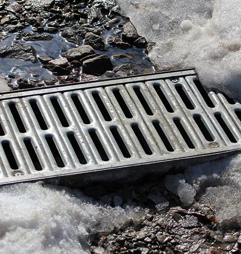storm drain snow melt